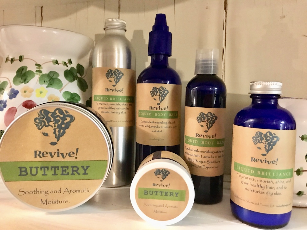 Revive hair and body products on shelf